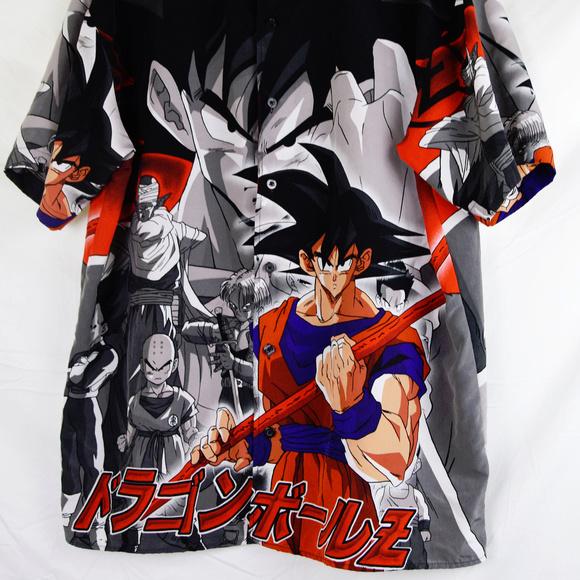 c423b1527 Dragon Ball - Z Other - 2001 Dragon Ball Z Son Goku Button Shirt Vintage